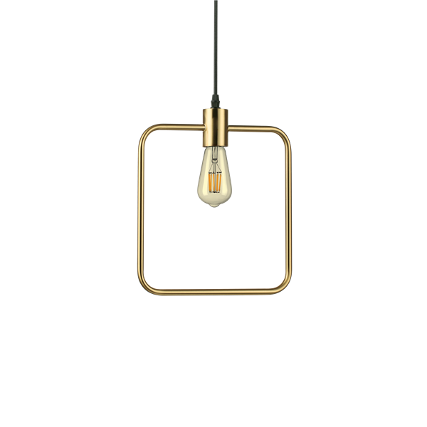 Lustra ABC SP1 Square Antique Brass