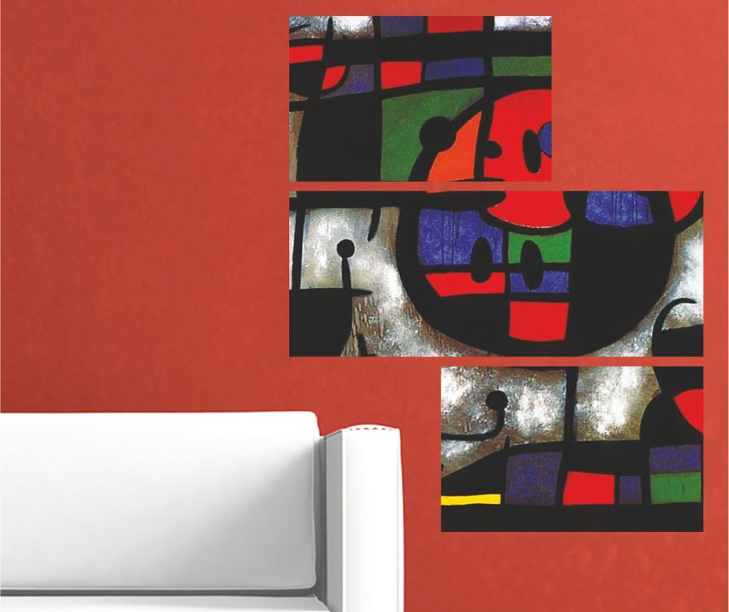 Set 3 decoratiuni de perete Abstract