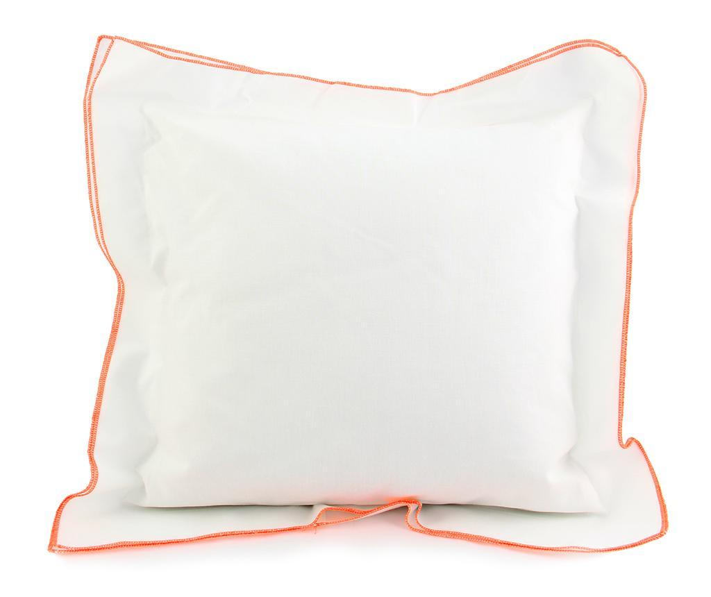 Fata de perna Basic Ruffle White Orange 40x40 cm