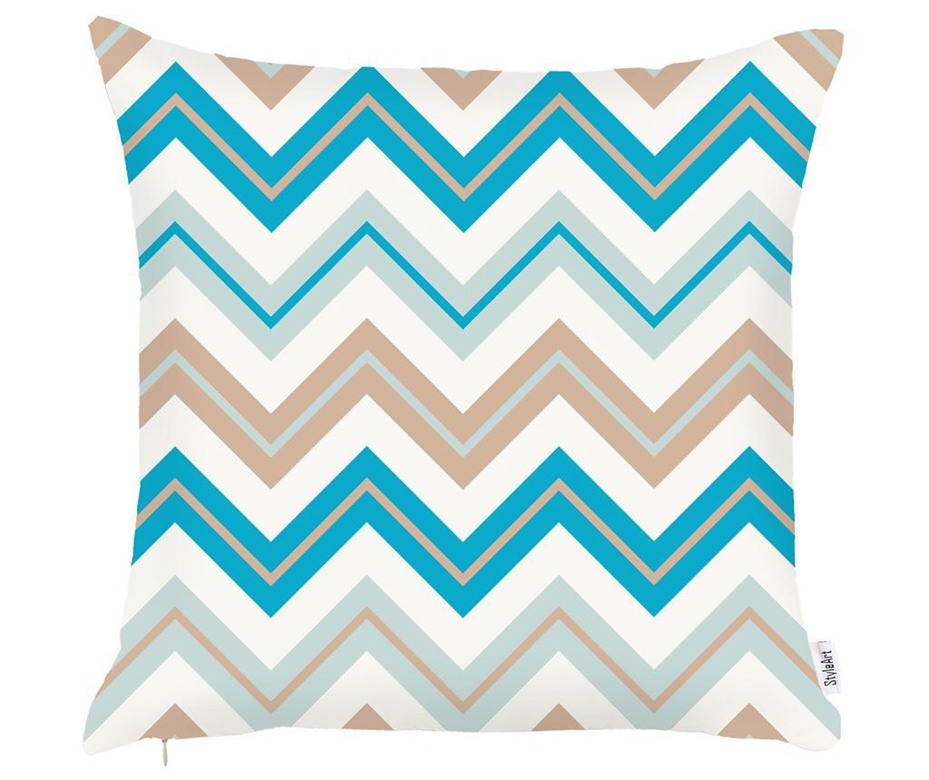 Fata de perna Chevron Trio Light Blue Beige 43x43 cm