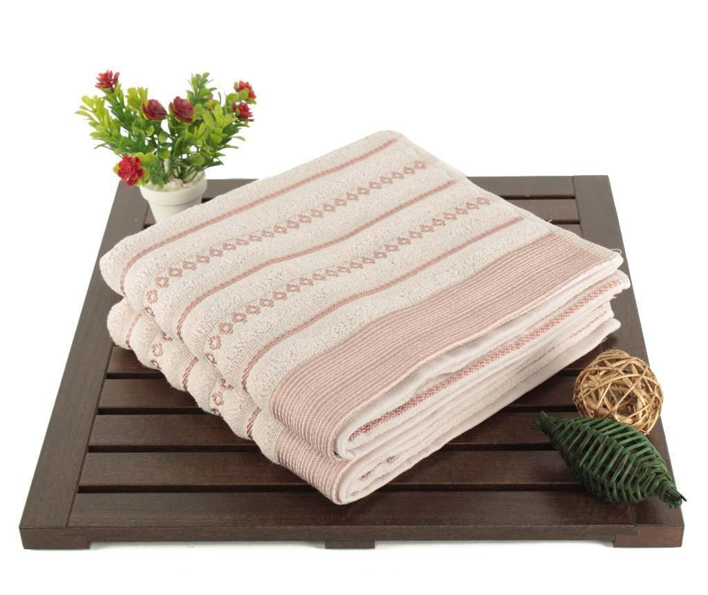 Set 2 prosoape de baie Smooth Pink Brown 50x90 cm