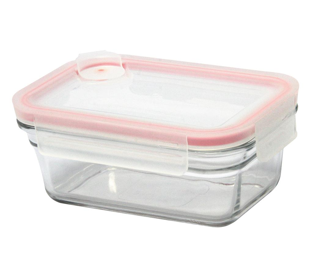 Bol cu capac ermetic Air Bakeware Rectangular Red 970 ml