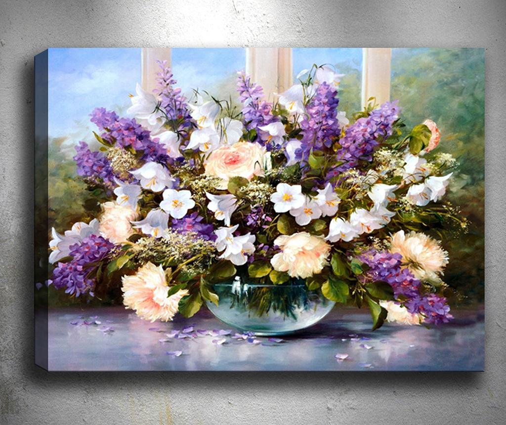 Tablou 3D Nice Purple Flowers 50x70 cm