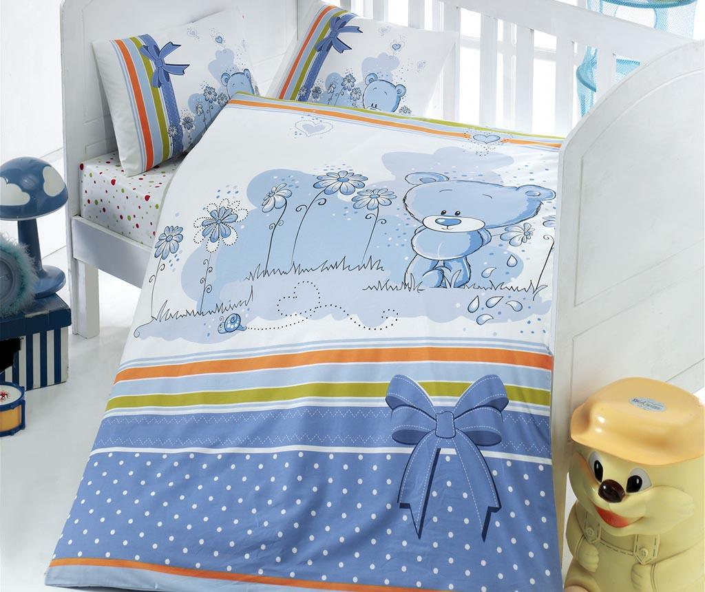 Lenjerie de patut Ranforce Bear Blue 100x150