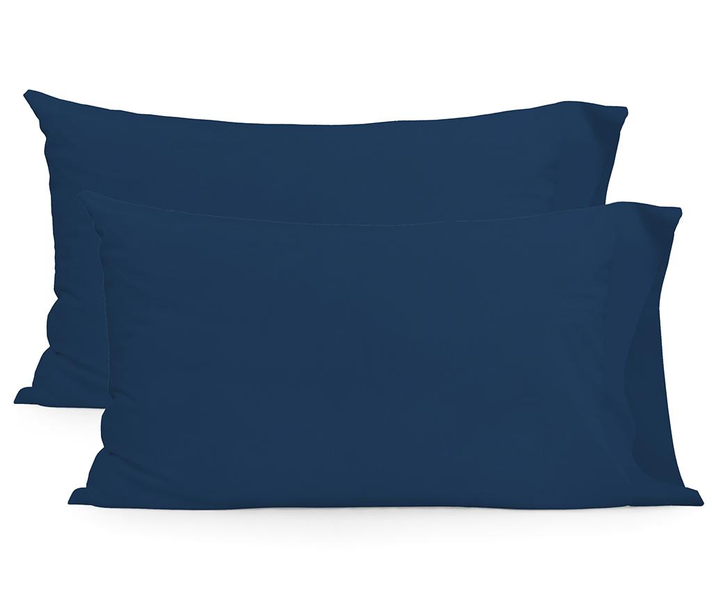 Set 2 fete de perna Basic Rectangular Navy 50x75 cm