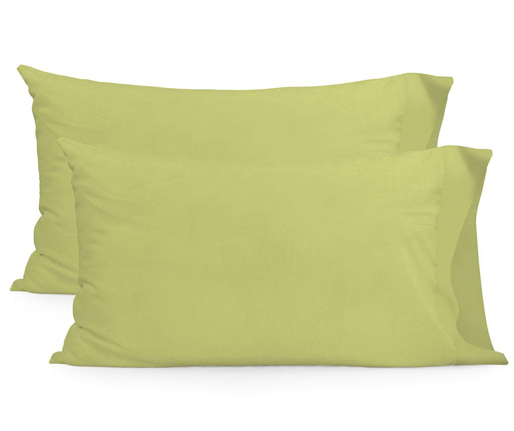 Set 2 fete de perna Basic Rectangular Green 50x75 cm