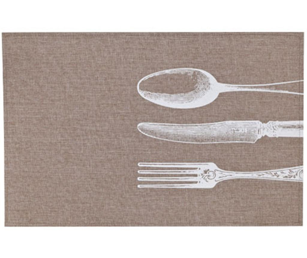 Individual Cutlery White 30x45 cm