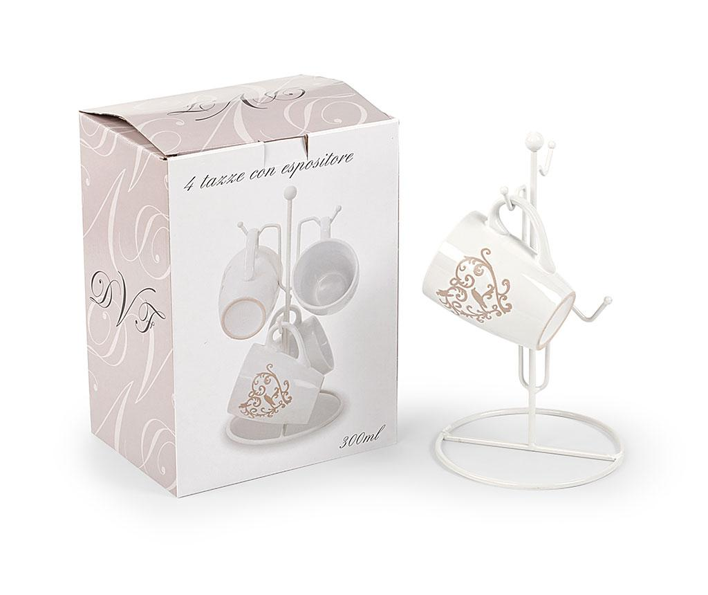 Set 4 cani si suport Romantic Heart