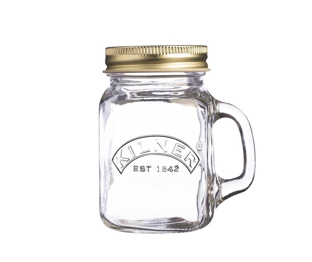 Cana cu capac Mini Jar 140 ml