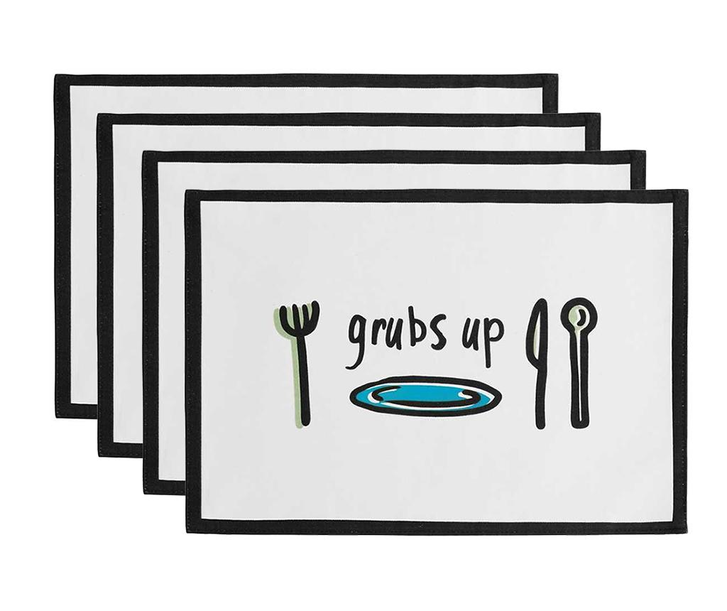 Set 4 individualuri Grubs Up 30x41 cm