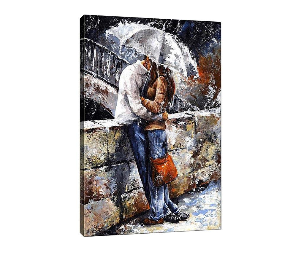 Tablou Kissing in the Rain 50x70 cm