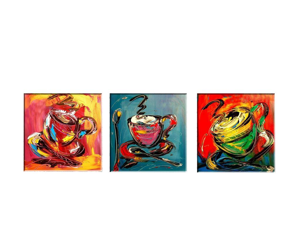 Set 3 tablouri Coffee Time 30x30 cm