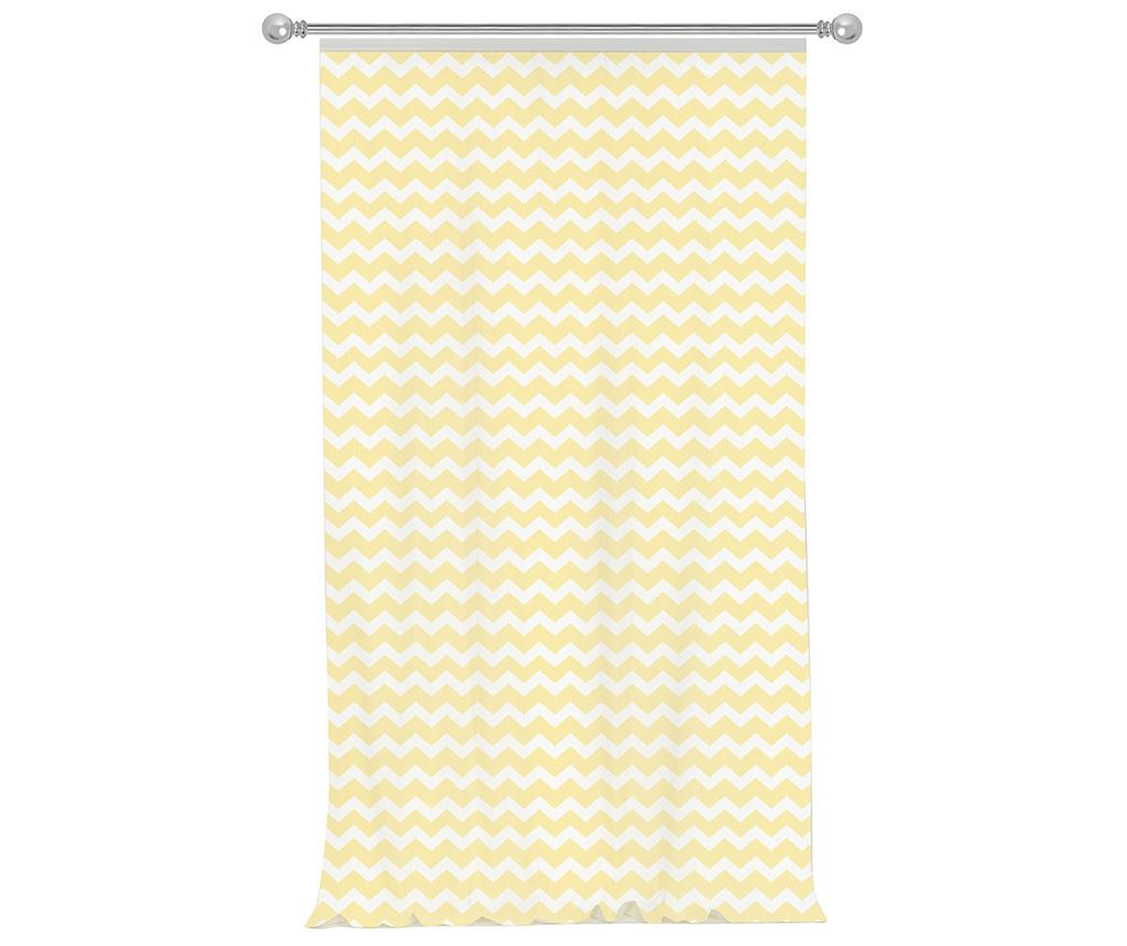 Draperie Zig Zag Light Yellow 140x270 cm
