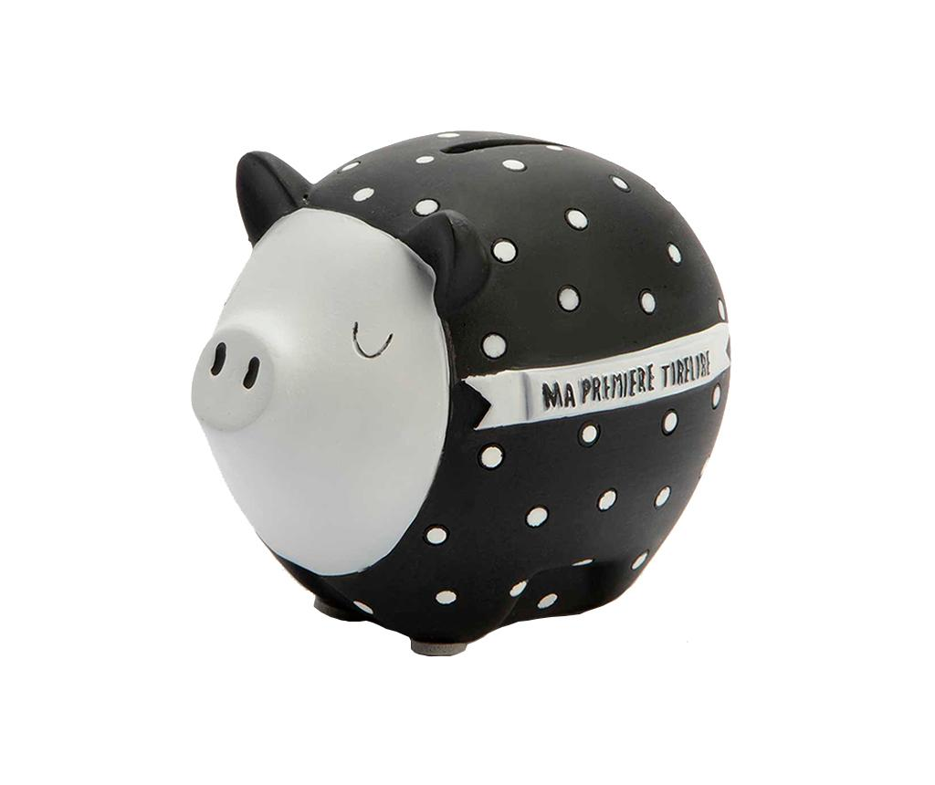 Pusculita Pig Black White