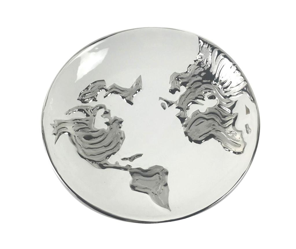 Platou decorativ Equinoxe World Map Round