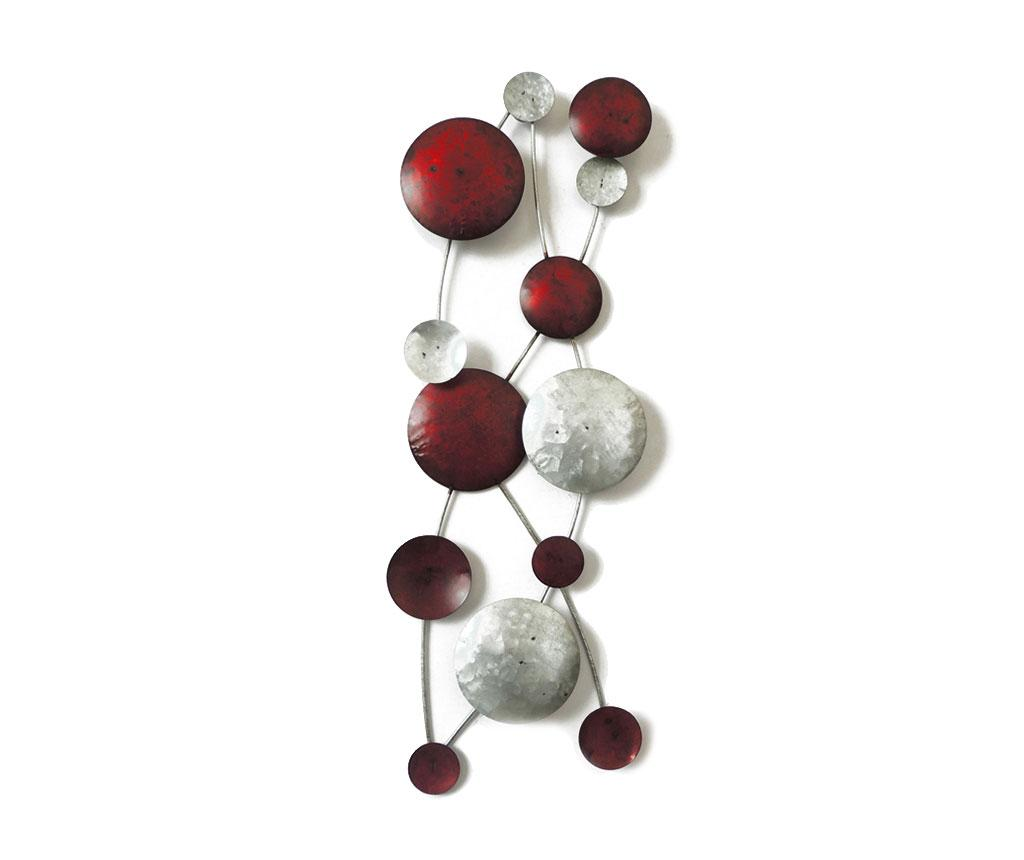 Decoratiune de perete Beaux Arts Red and Silver Discs