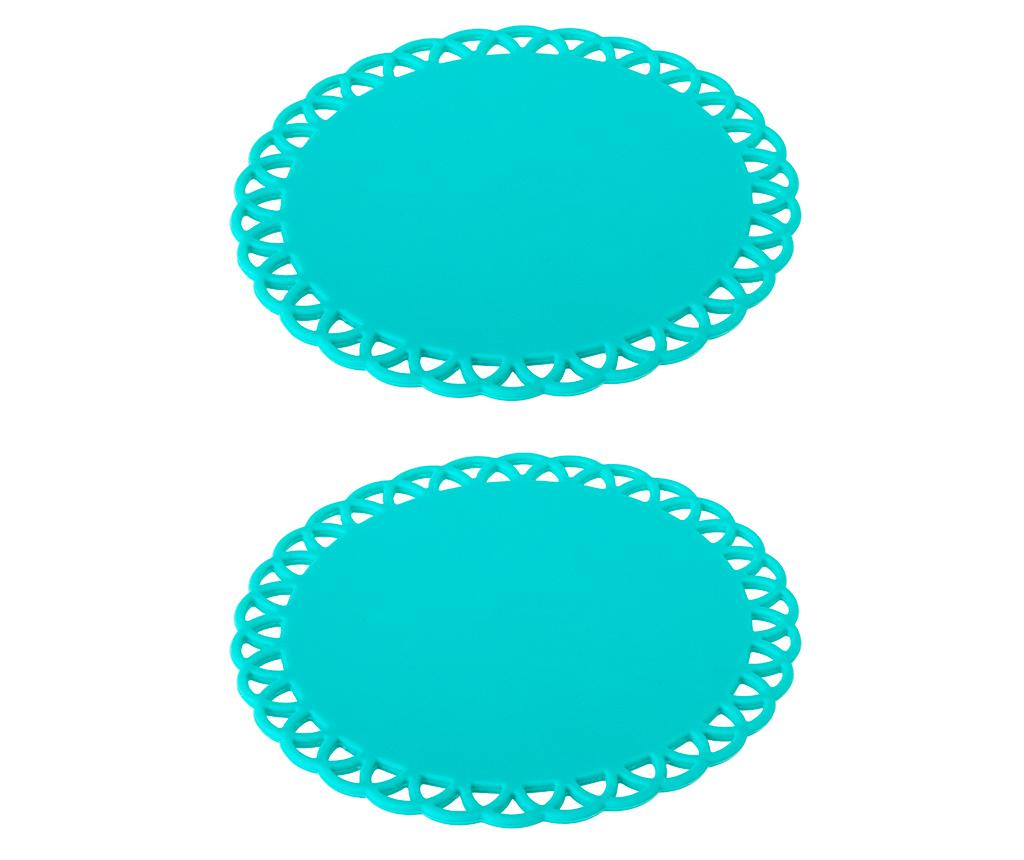 Set 2 coastere Maid Turquoise
