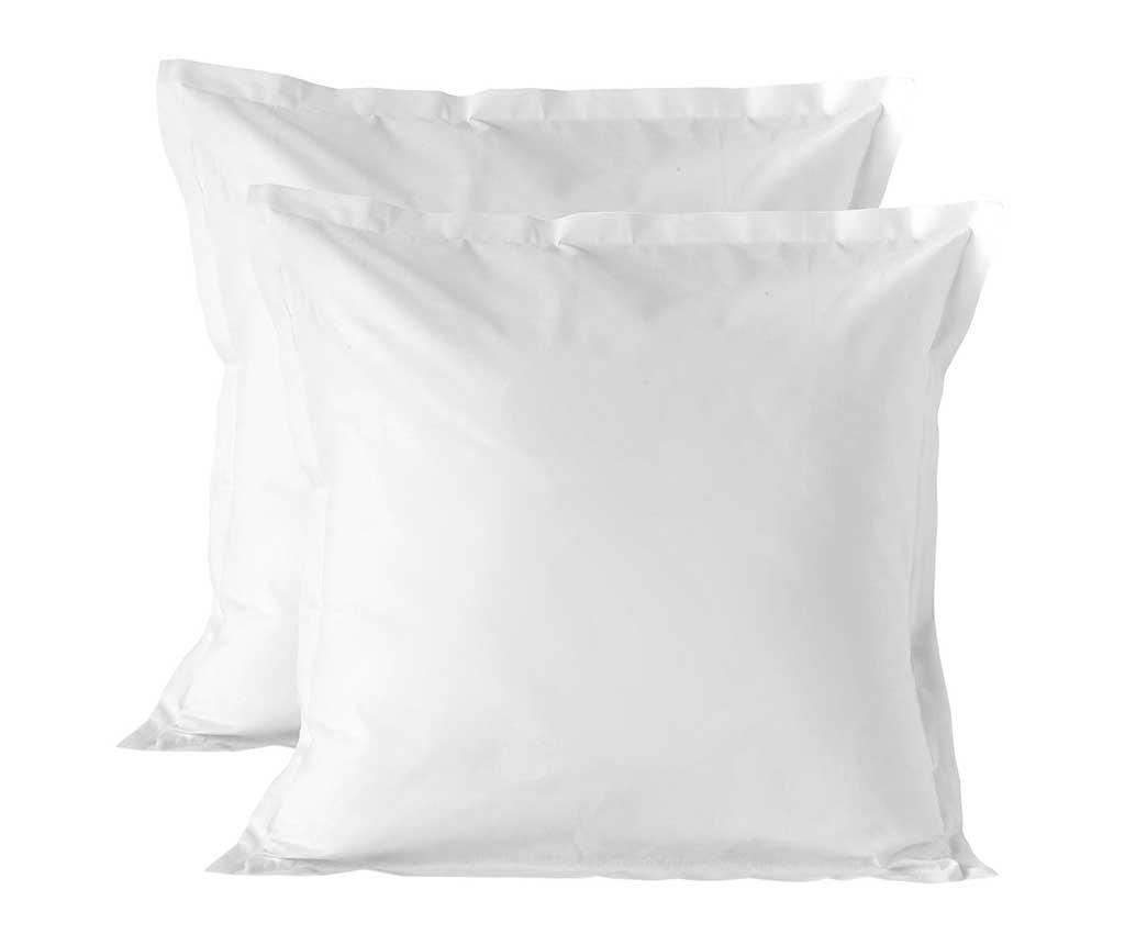 Set 2 fete de perna Basic White 60x60 cm