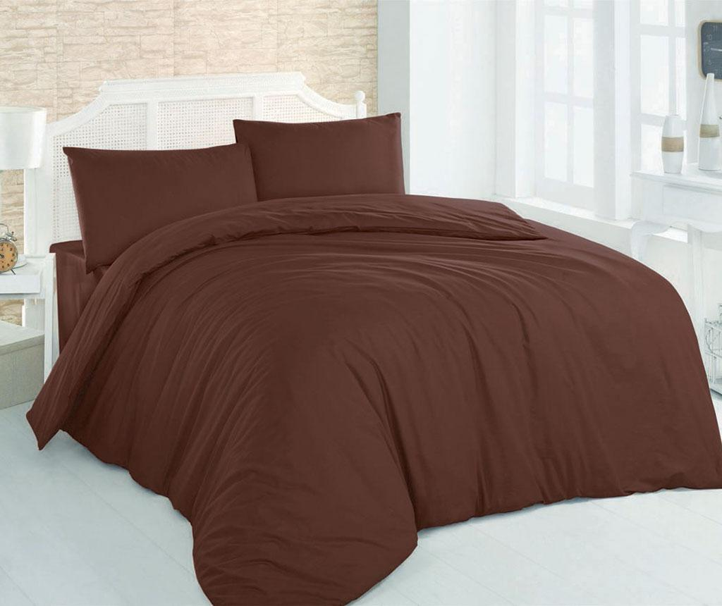 Lenjerie de pat Single Ranforce Plain Dark Brown
