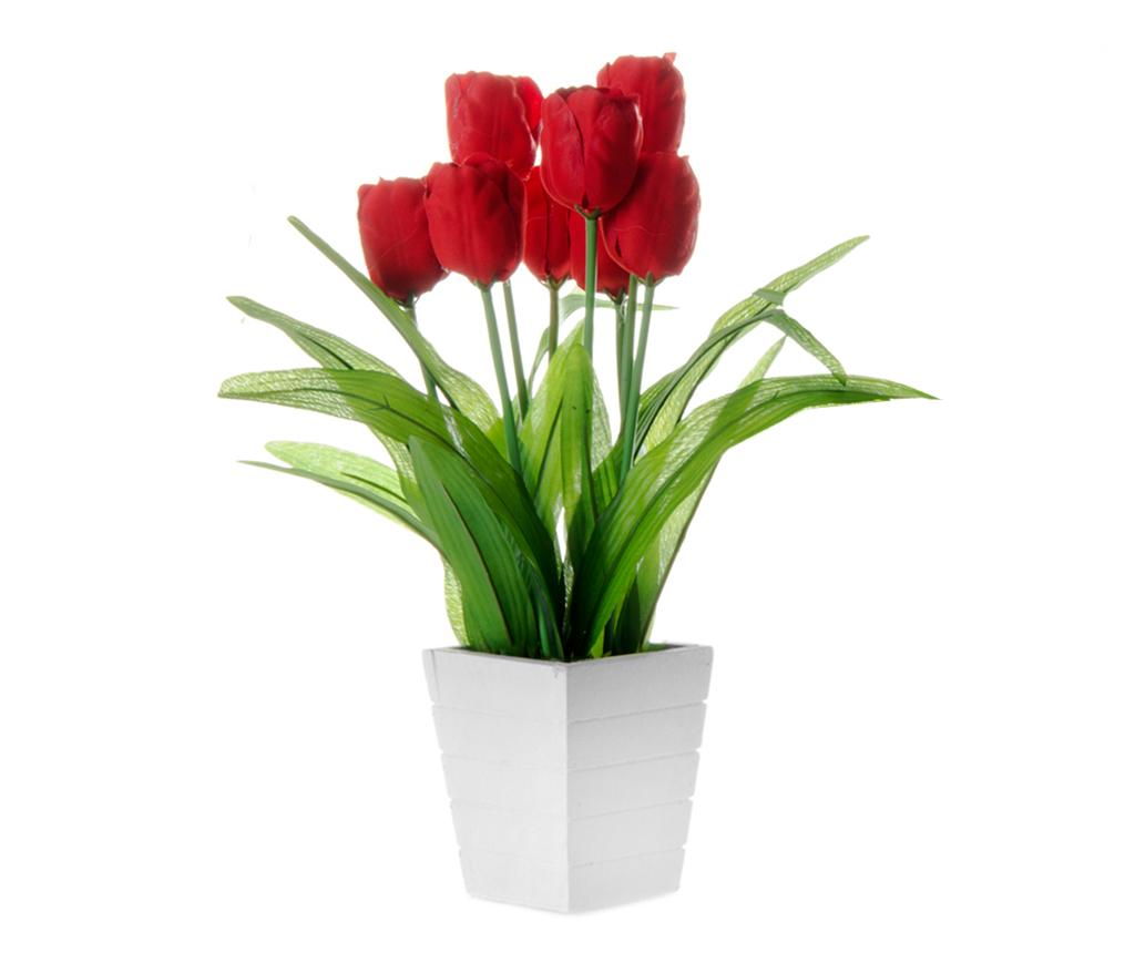 Floare artificiala in ghiveci Tulip Red