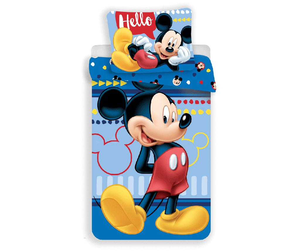 Set de pat Single Ranforce Mickey Mouse
