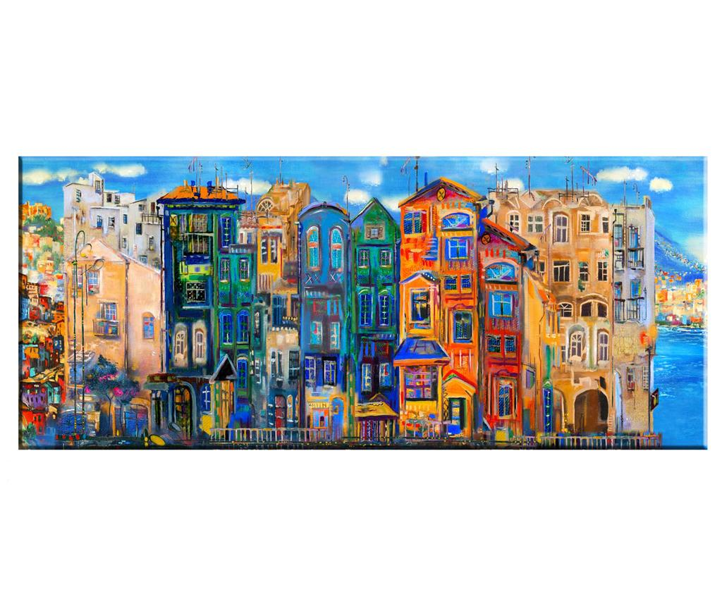 Tablou Colourful Houses 60x140 cm