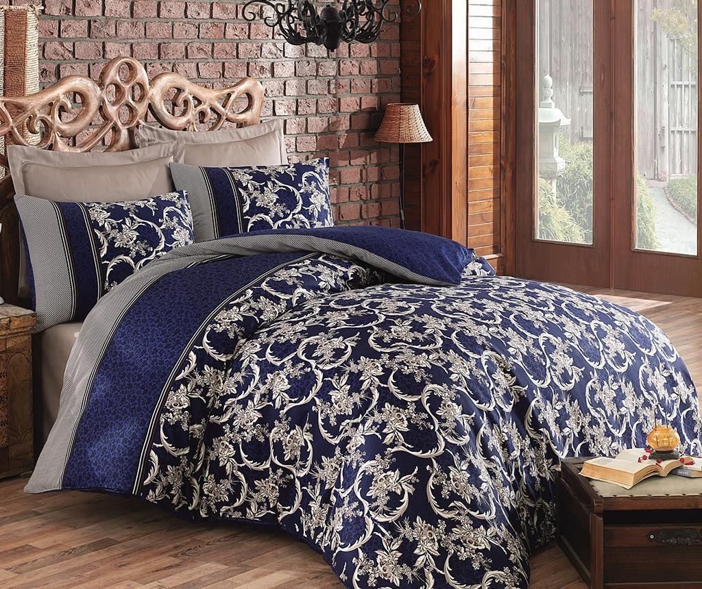 Set de pat Double Satin Pera Dark Blue
