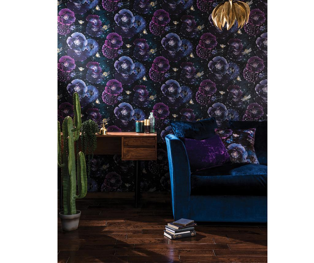 Tapet Nocturnal Purple Teal 53x1005 cm