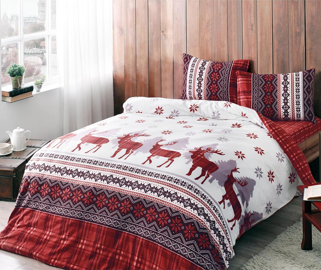 Lenjerie de pat Single Flanel Snow Reindeer