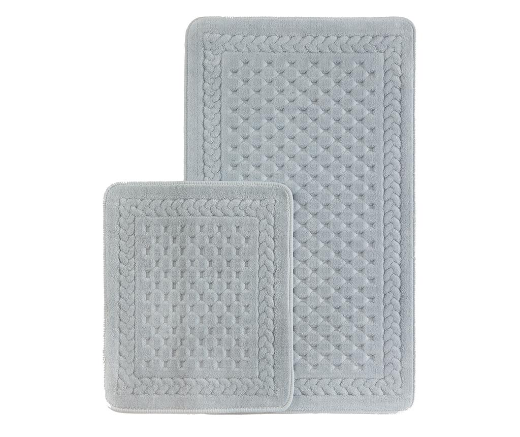 Set 2 covorase de baie Lace Grey