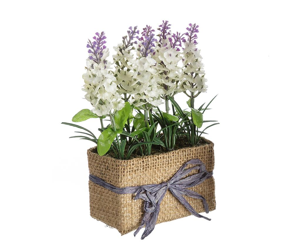 Planta artificiala in ghiveci Lavander Flowers White