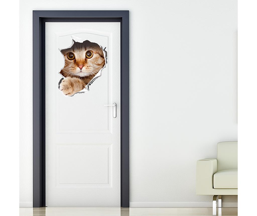 Sticker 3D Cat Wall Break