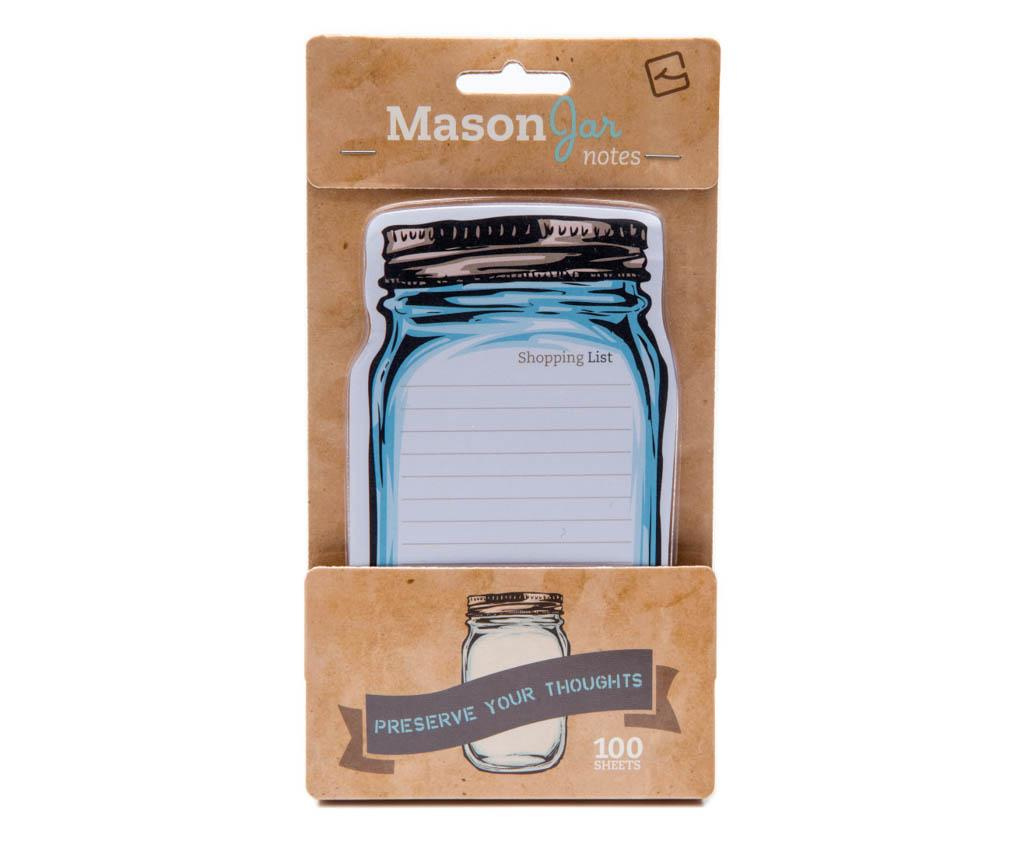 Notite adezive Mason Jar Sticky Notes