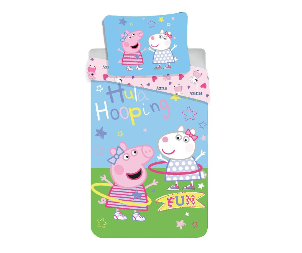Set de pat Single Peppa Pig