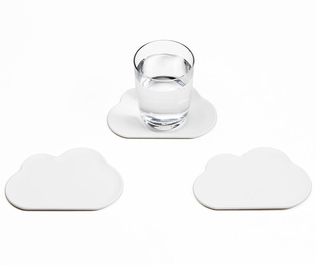 Set 6 coastere White Cloud