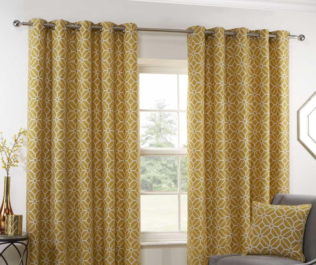 Set 2 draperii Kelso Yellow 229x229 cm