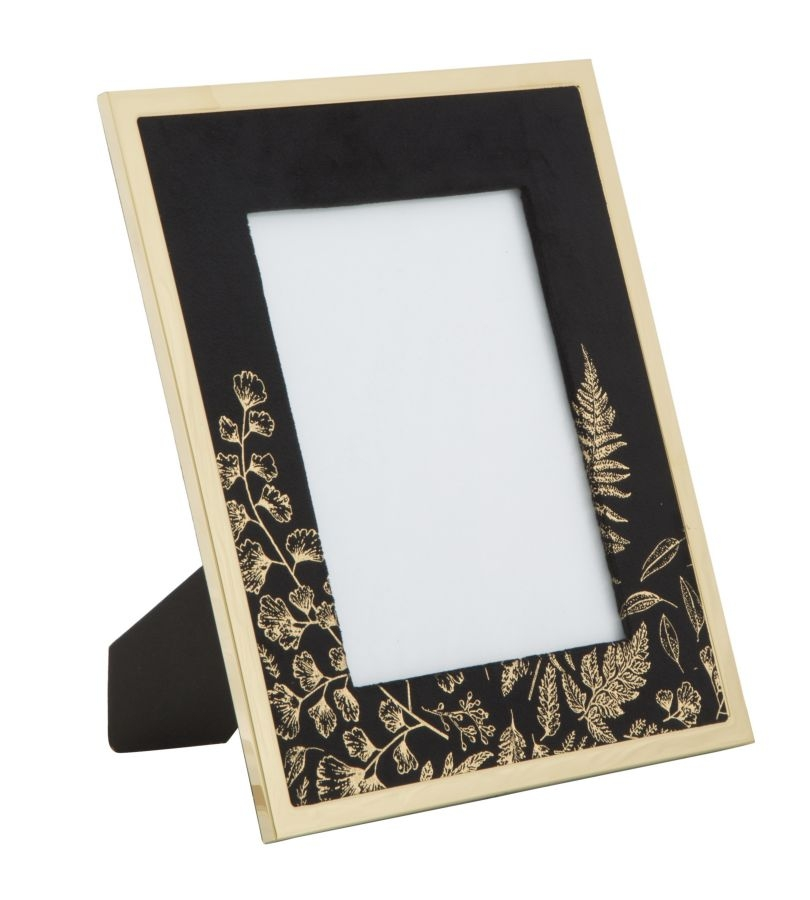 Rama foto decorativa din MDF si metal Black Glam Small Negru / Auriu
