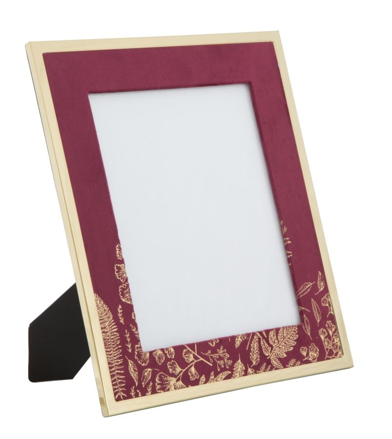Rama foto decorativa din MDF si metal Glam Large Bordeaux / Auriu