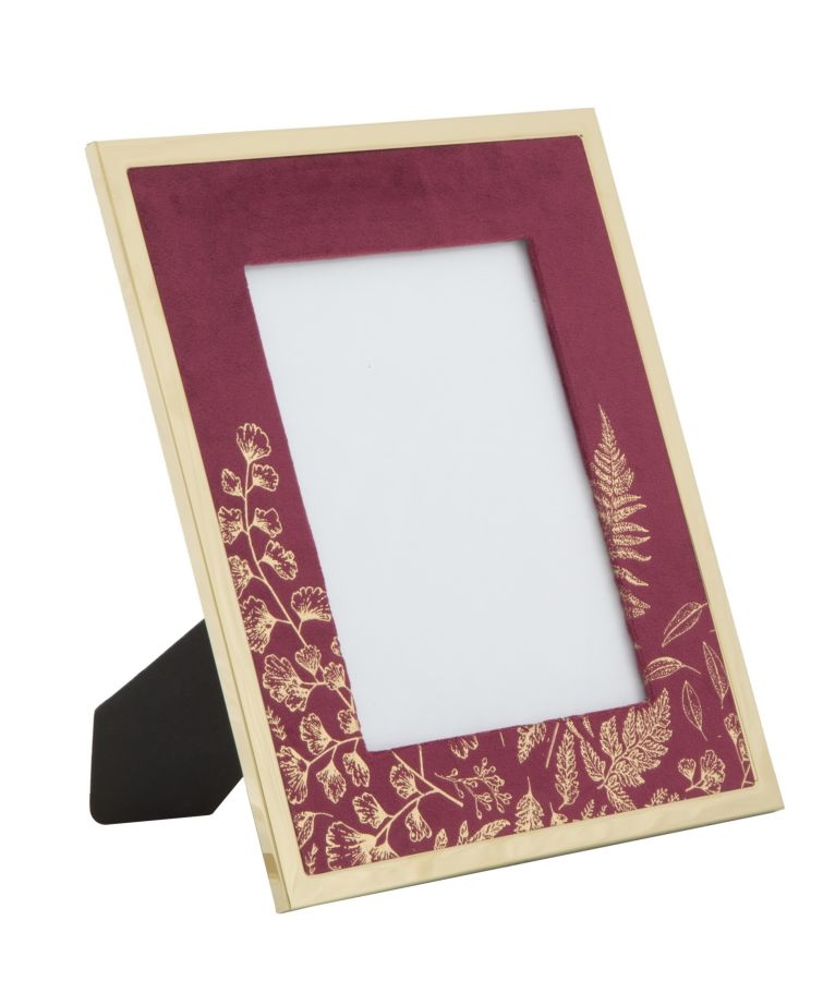 Rama foto decorativa din MDF si metal Glam Small Bordeaux / Auriu