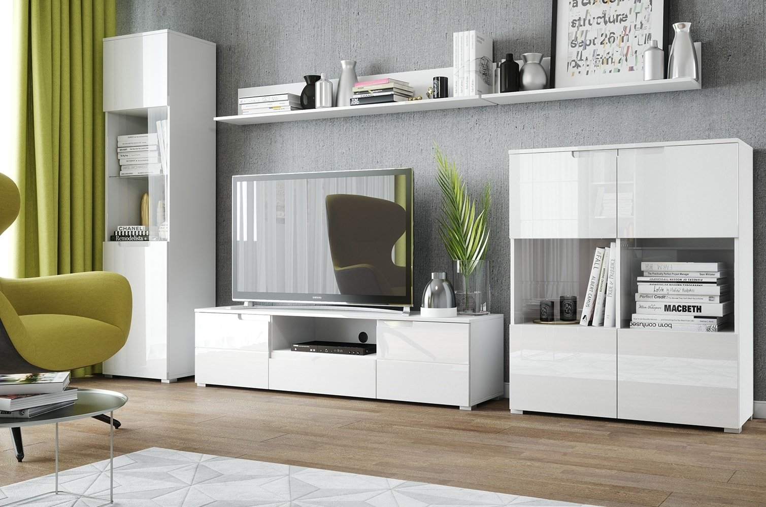 Set de mobila living din pal si MDF