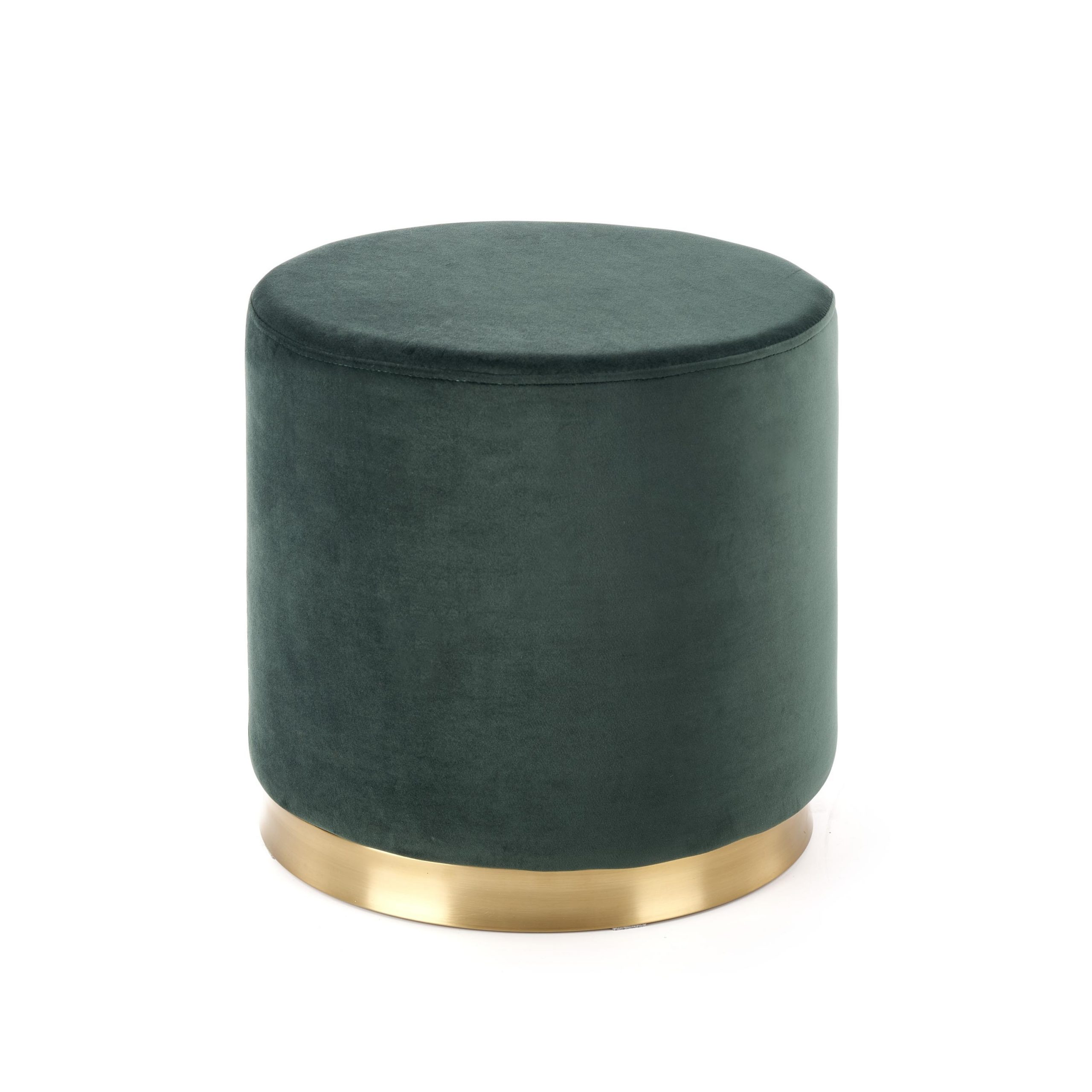 Taburet tapitat cu stofa Covet Dark Green / Gold